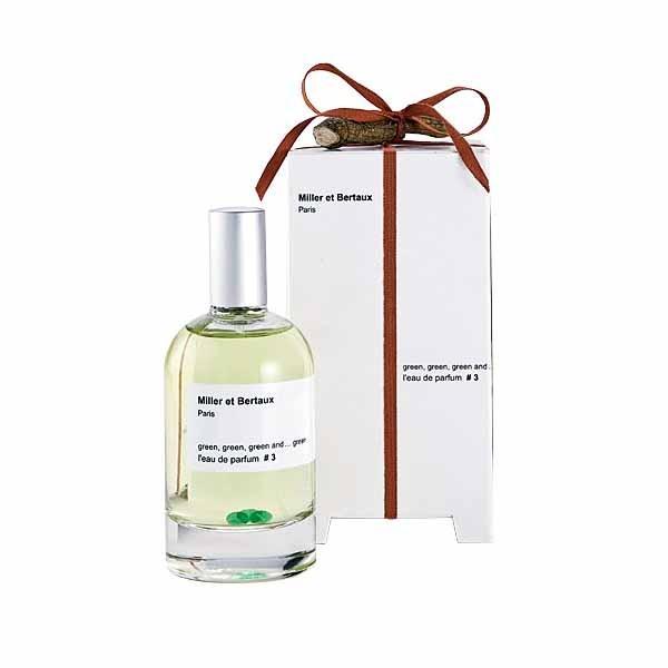 L'eau de parfum NO.3 Green, green & green Miller et Bertaux
